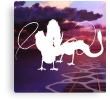 White Haku Canvas Print