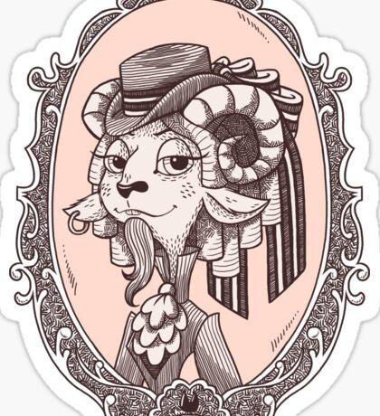 lady goat Sticker
