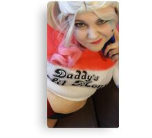 Scarlett Black Harley Quinn Suicide Squad Canvas Print
