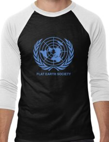 Flat Earth Society Men's Baseball ¾ T-Shirt
