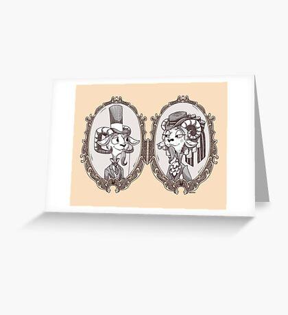 goat locket Greeting Card