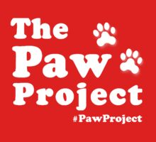 Paw Project Logo in White Kids Clothes