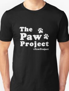 Paw Project Logo in White Unisex T-Shirt