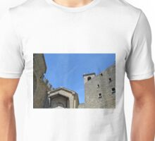 Stone building facades from San Marino. Unisex T-Shirt