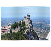 San Marino tower view. Poster