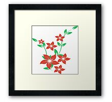 floral flower Framed Print