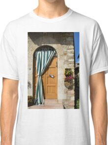 Beautiful door with curtain from Assisi. Classic T-Shirt