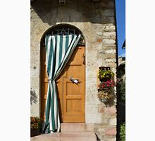 Beautiful door with curtain from Assisi. Unisex T-Shirt