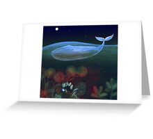 underwater bedroom Greeting Card