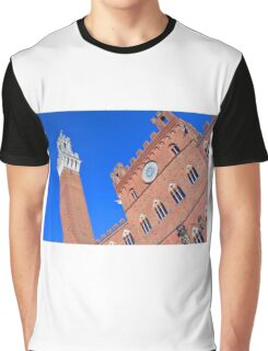 Buildings from main square from Siena. Graphic T-Shirt