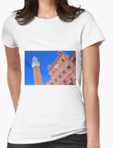 Buildings from main square from Siena. Womens Fitted T-Shirt