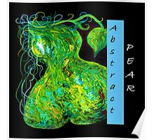 Abstract Pear Poster