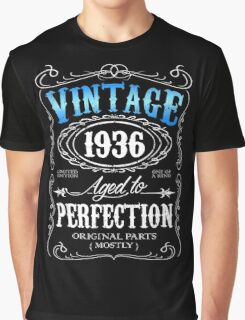 Vintage 1936 aged to perfection 80th birthday gift for men 1936 birthday Graphic T-Shirt