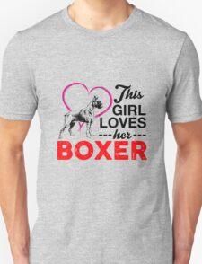 This Girl Loves Her Boxer Unisex T-Shirt