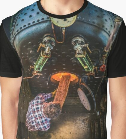 The Paddle Steamer Fireman Graphic T-Shirt