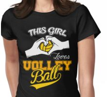 THIS GIRL LOVES VOLLEYBALL Womens Fitted T-Shirt