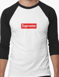 Supreme Logo  Men's Baseball ¾ T-Shirt