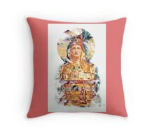 Golden Madonna Throw Pillow