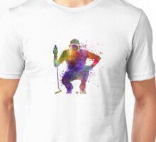 man golfer crouching  silhouette Unisex T-Shirt