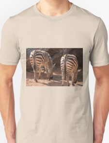zebra in the forest Unisex T-Shirt