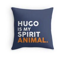 Hugo is My Spirit Animal - New Paltz State University Throw Pillow