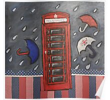 Rainy Day In London Poster
