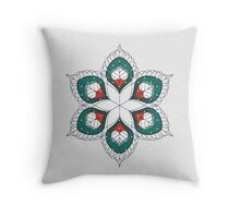 White Hearts Throw Pillow