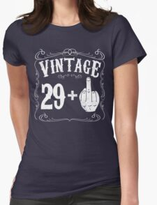 Vintage middle finger salute 30th birthday gift funny 30 birthday 1986 Womens Fitted T-Shirt