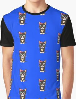 Cute cat with bow   Graphic T-Shirt