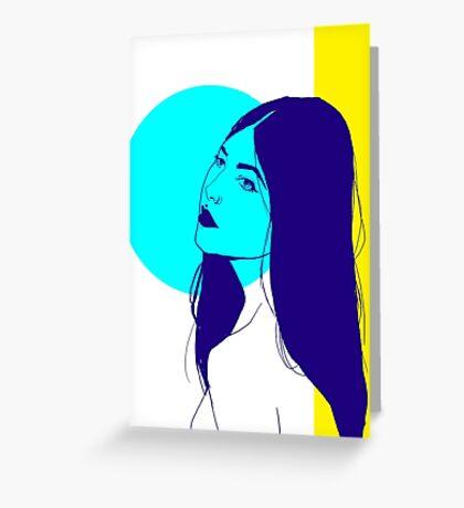 Tri.Colour Greeting Card
