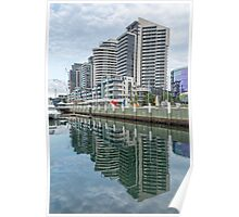 Docklands Reflections, Melbourne Poster