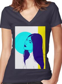 Tri.Colour Women's Fitted V-Neck T-Shirt
