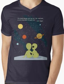 Carl Sagan Alien Love Mens V-Neck T-Shirt