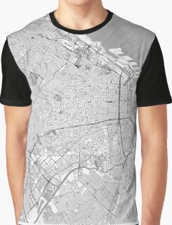 Buenos Aires Map Line Graphic T-Shirt