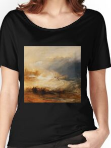 Wreckers Coast of Northumberland by JMW Turner Women's Relaxed Fit T-Shirt