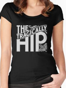THE TRAGICALLY HIP WHITE Women's Fitted Scoop T-Shirt
