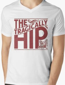 THE TRAGICALLY HIP RED Mens V-Neck T-Shirt