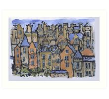 Edinburgh painting Art Print