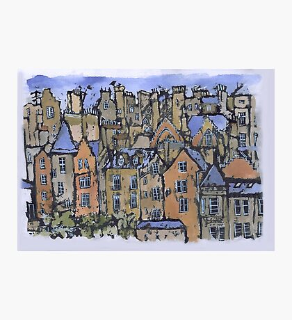 Edinburgh painting Photographic Print