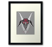 Baphomet Red Pentagram Framed Print