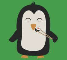 Penguin with sushi One Piece - Short Sleeve