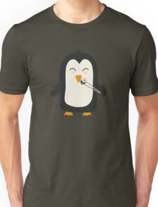 Penguin with sushi Unisex T-Shirt