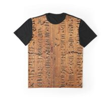 Egyptian hieroglyphs from Karnak temple in Luxor Graphic T-Shirt