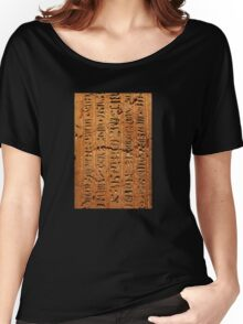Egyptian hieroglyphs from Karnak temple in Luxor Women's Relaxed Fit T-Shirt
