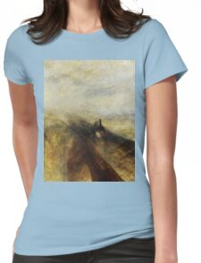 Rain, Steam and Speed by JMW Turner Womens Fitted T-Shirt