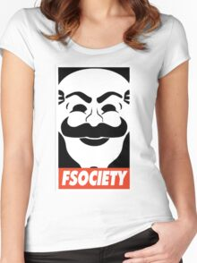 FSociety, Mr. Robot Women's Fitted Scoop T-Shirt