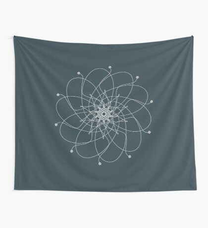 Ornament – Nightblu Blossom Wall Tapestry