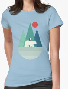 Penguin Bear Patient Womens Fitted T-Shirt