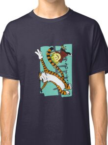 Calvin and Hobbes Dancing left Classic T-Shirt