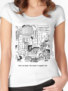 Harvest Festival Church Service Women's Fitted Scoop T-Shirt